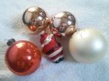 Елочные игрушки: Шары и Дед мороз. 5 шт. 1 - им лотом, фото №8