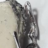 Серьги и подвес на цепочке с аметистом, серебро 925, фото №6