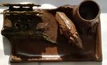 Чернильный прибор с кабаном в раскраске., фото №8