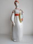 Женщина из Мукачево девушка с торбами ПЗХК фарфор СССР целая, фото №7