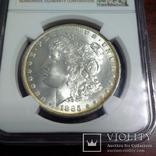 1 доллар 1885 O NGC MS64, фото №3