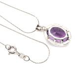Ожерелье с крупным аметистом, фото №4