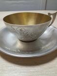 Чашка и Блюдце, серебро 875* фото 7