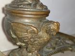 Сова бронза Коллекционная подставка на письменный и кухонный стол, фото №5