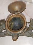 Сова бронза Коллекционная подставка на письменный и кухонный стол, фото №7