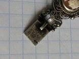 Браслет серебро Камея  на раковине, фото №5