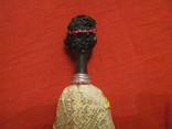 Статуэтка - Африка с копьём - полистоун - высота 25,5 см., фото №5