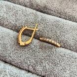 Золотые серьги, фото №3