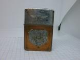 Зажигалка Zippo в кожаном чехле, фото №3