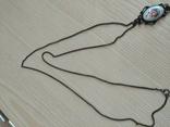 Лот-5. Набор украшений с финифти: перстень,цепочка с кулоном,серьги., фото №6