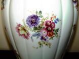 Каминная ваза фарфор роспись Мейсенский букет Thomas Rosenthal Германия 1908 -1939 г.г., фото №6