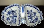 Менажница блюдо Cabaret-Schale синий лук Zwiebelmuster Bohemia, фото №2