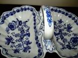 Менажница блюдо Cabaret-Schale синий лук Zwiebelmuster Bohemia, фото №3