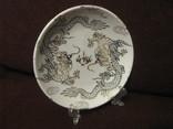 Декоративная кабинетная тарелочка на подставке - Драконы., фото №2