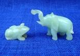 Слон и лягушка из оникса. Германия., фото №2