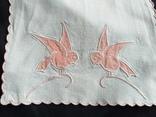 Слюнявчики  птички винтажные, фото №3
