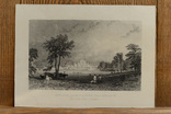 Антикварная гравюра Lowther Castle & Park Westmorland, фото №2