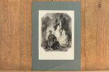 Большая Антикварная гравюра America The Pilgrim Fathers, фото №2