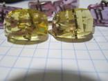 Запонки Серебро 875 звезда  4пары, фото №3
