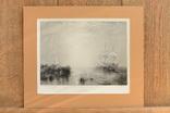 Большая Антикварная гравюра Whalers, фото №2