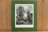 Большая Антикварная гравюра The Corn Field. J.Constable, фото №2