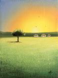 Картина Спогади та мрії, 15х20см. Живопис на полотні., фото №3