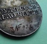 """Медаль За трудовое отличие """"треуголка"""", фото №9"""