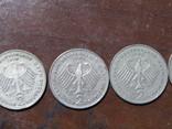 5 монет Німеччини, номінал 2 марки, 73,74,75,85,88 рік, фото №6