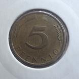 5 пфеннигов  1971  G  ФРГ  Холдер 62, фото №2