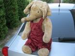 Старинный плюшевый слон рост 60 см, фото №2