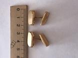 Золотые запонки 585 проба, фото №6