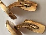 Золотые запонки 585 проба, фото №8