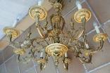 Большая бронзовая люстра 16 кг, фото №2