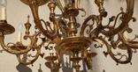 Большая бронзовая люстра 16 кг, фото №3