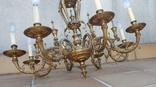 Большая бронзовая люстра 16 кг, фото №7