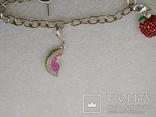 Серебрянный браслет 925 с подвесками посеребрение, фото №4