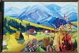 Картина. Осень. Закарпатский художник. Холст/масло 80,5 х 120,5 см., фото №3
