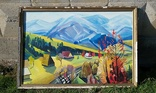 Картина. Осень. Закарпатский художник. Холст/масло 80,5 х 120,5 см., фото №7