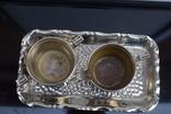 Посеребренные молочник, сахарница. Германия WMF G, Поднос метал в подарок., фото №2