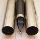 """Новая перьевая ручка """"Wing Sung-220"""" 1989 года. Пишет мягко и тонко., фото №6"""