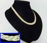 Цепочка серебряная с позолотой (№9), фото №2