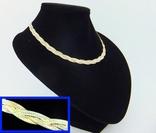 Женская серебряная цепочка + позолота (№20), фото №2