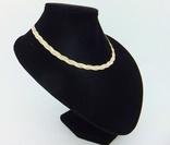 Женская серебряная цепочка + позолота (№20), фото №3