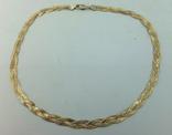 Женская серебряная цепочка + позолота (№20), фото №5