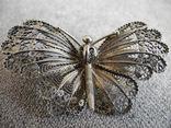 Сканевая брошь бабочка (серебро 925 пр, вес 10 гр), фото №2