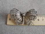 Сканевая брошь бабочка (серебро 925 пр, вес 10 гр), фото №6