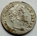 Бавария 1 крейцер 1835 год серебро, фото №2
