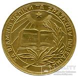 Золотая школьная медаль УССР 1954г, фото №2