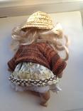Фарфоровая кукла в соломенной шляпе, фото №5