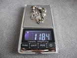 Серебряное ожерелье с камнями ( серебро 800 пр, вес 11,8 гр), фото №3